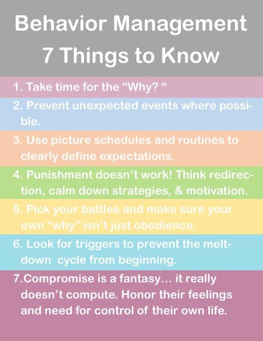 Behavior Management Strategies List